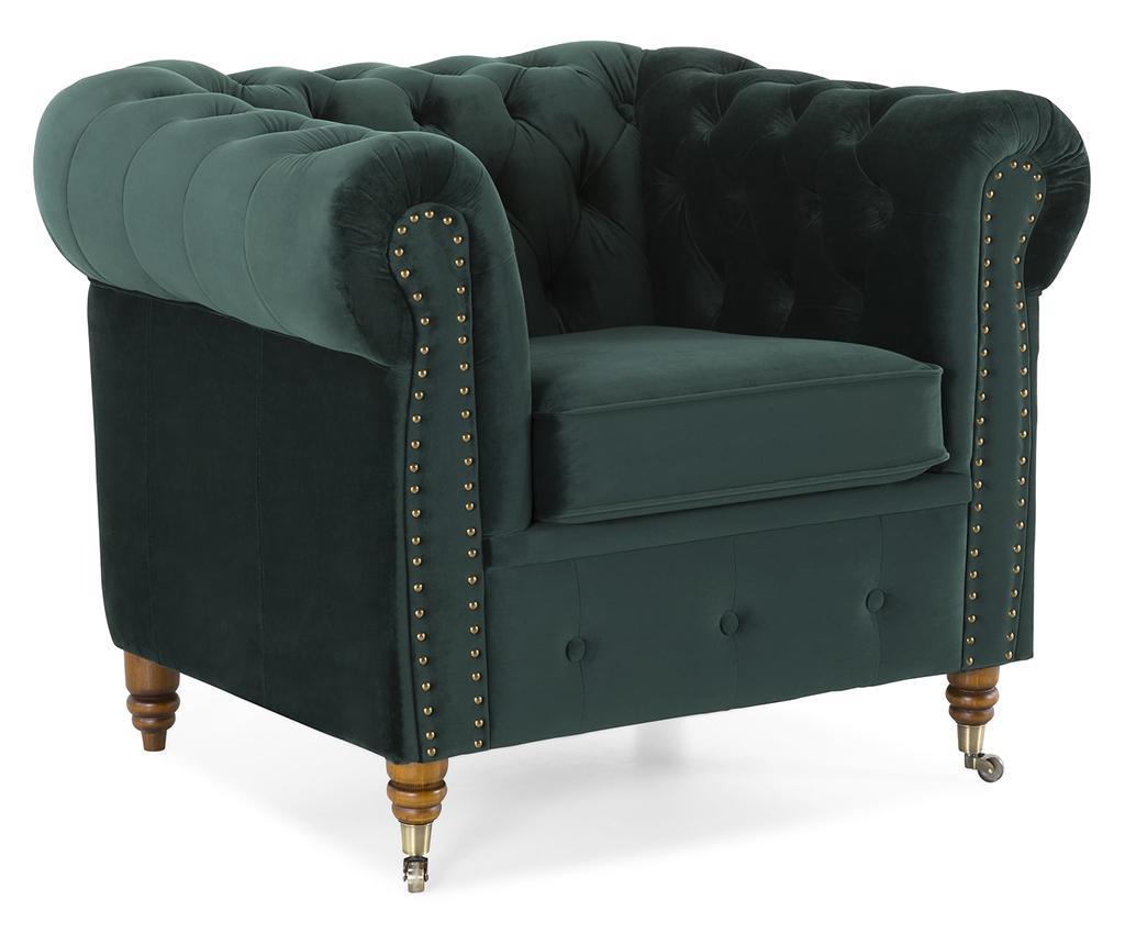 Fotelja Chesterfield Dark Green
