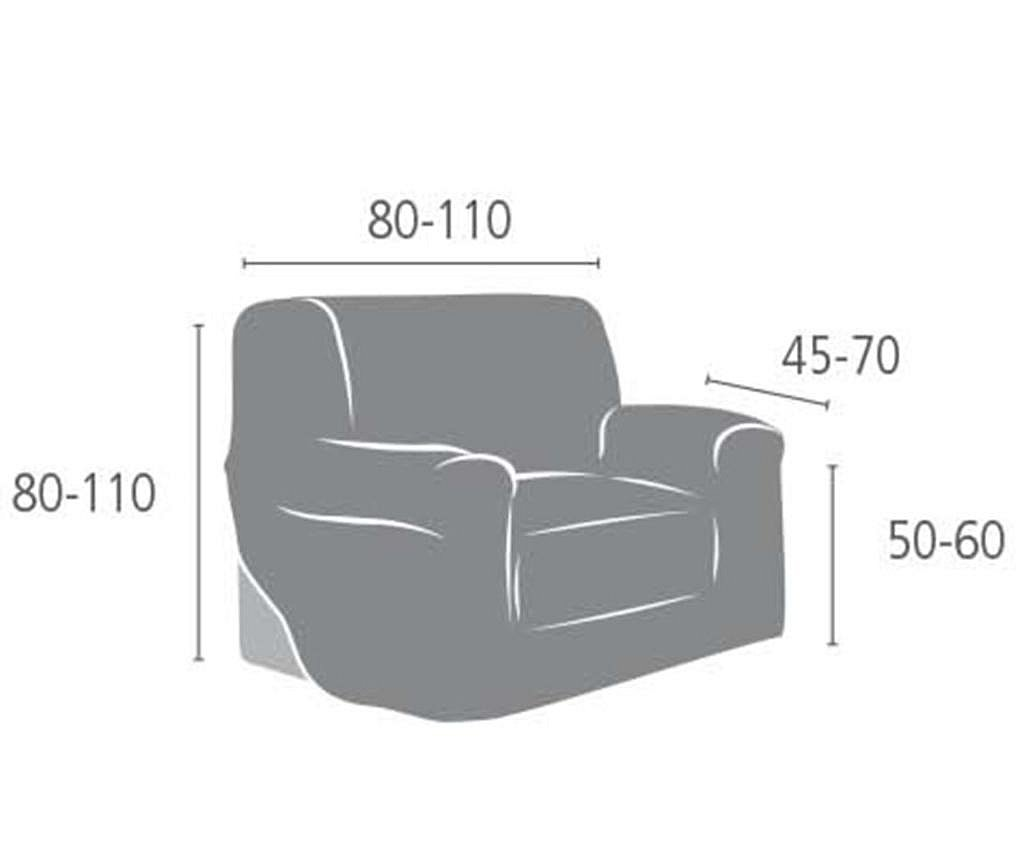 Elastična navlaka za fotelju Aquiles Brown 80x45x50 cm