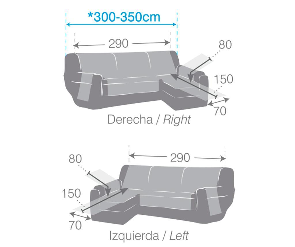 Husa matlasata pentru coltar dreapta Oslo Beige 290x150x80 cm