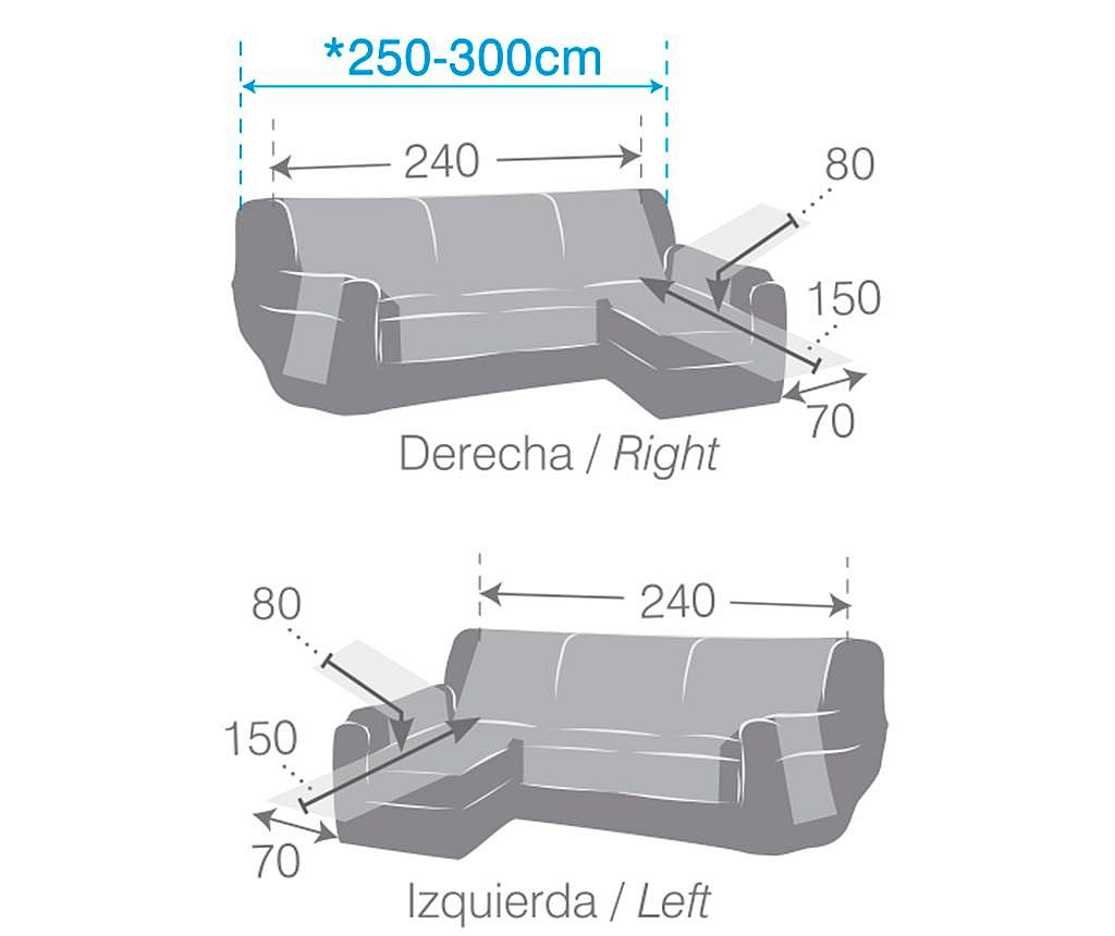 Prošivena navlaka za desnu kutnu garnituru Oslo Brown 240x150x80 cm