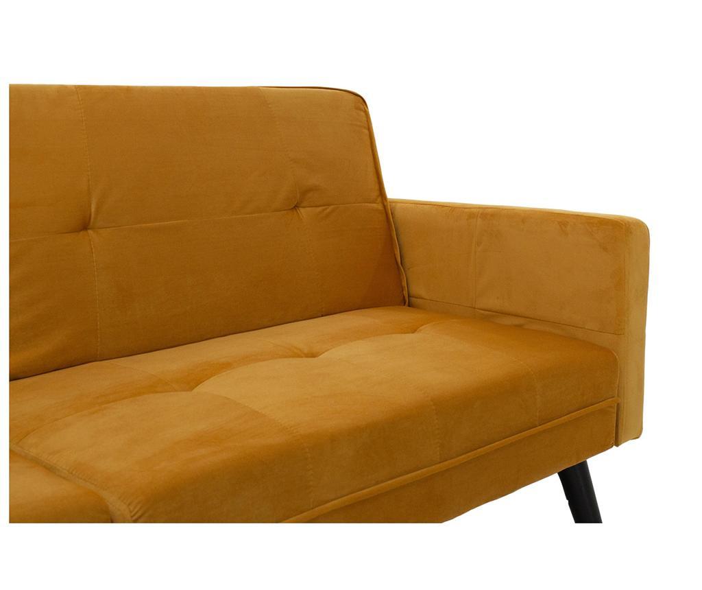Set kauč na razvlačenje i tabure za noge Dream Yellow
