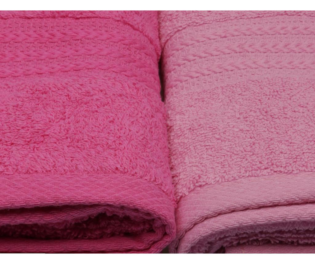 Zestaw 4 ręczników kąpielowych Shades Pink 50x90 cm
