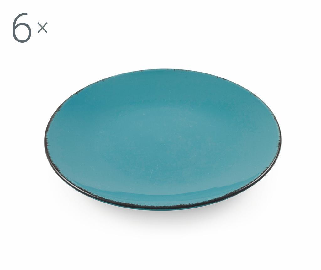 Set 6 farfurii pentru desert Baita Turquoise