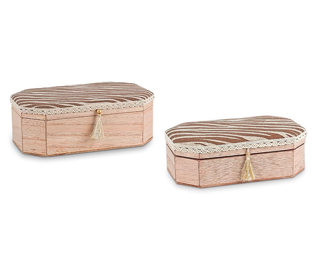 Set 2 kutije s poklopcem Tassel