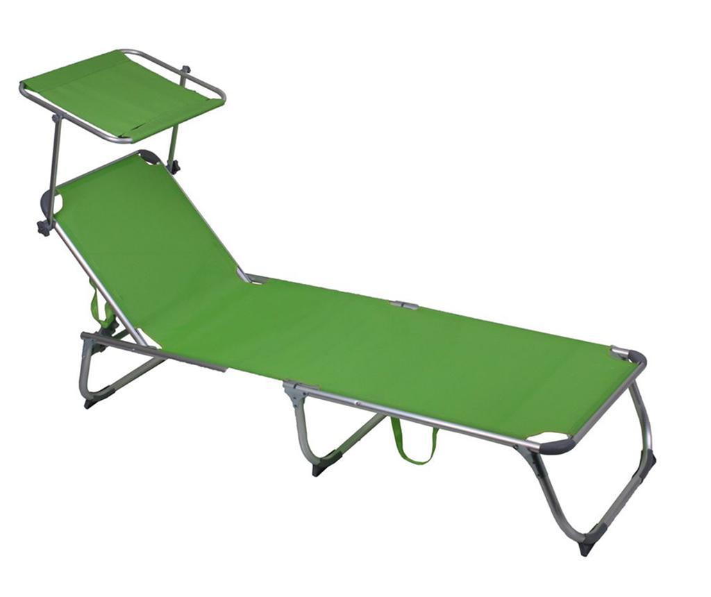 Leżak ogrodowy z daszkiem Kiso Green