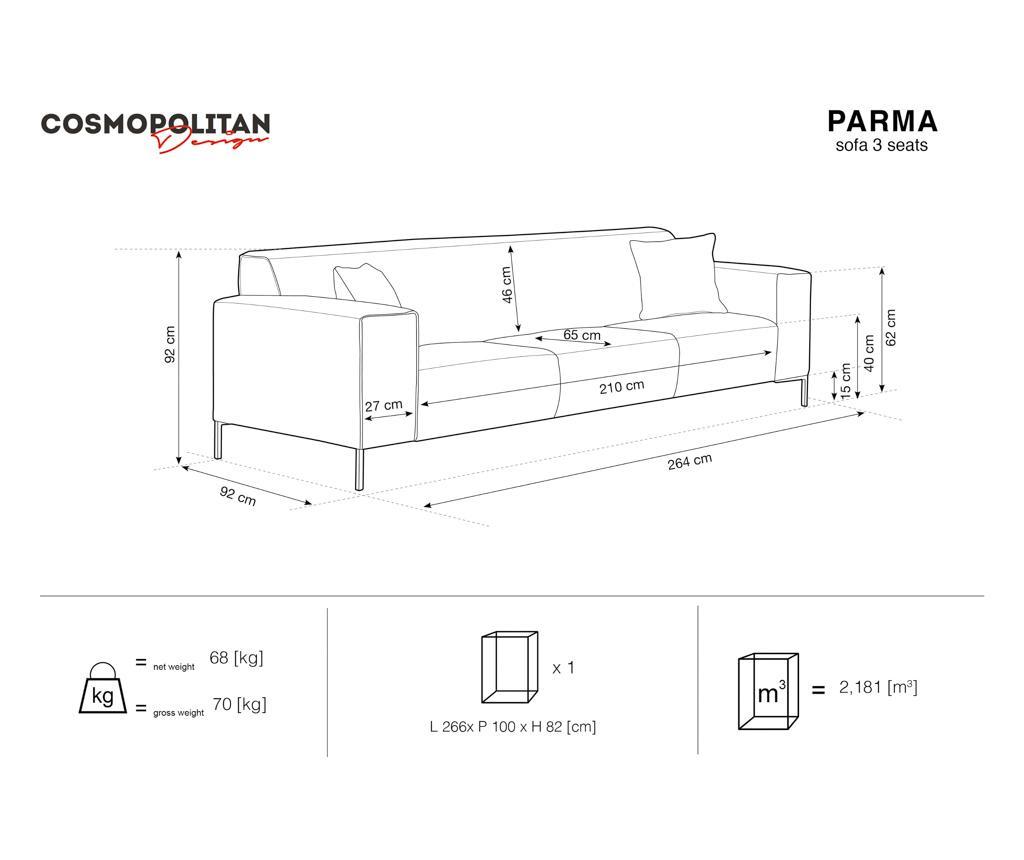 Kanapa 3-osobowa Parma Beige