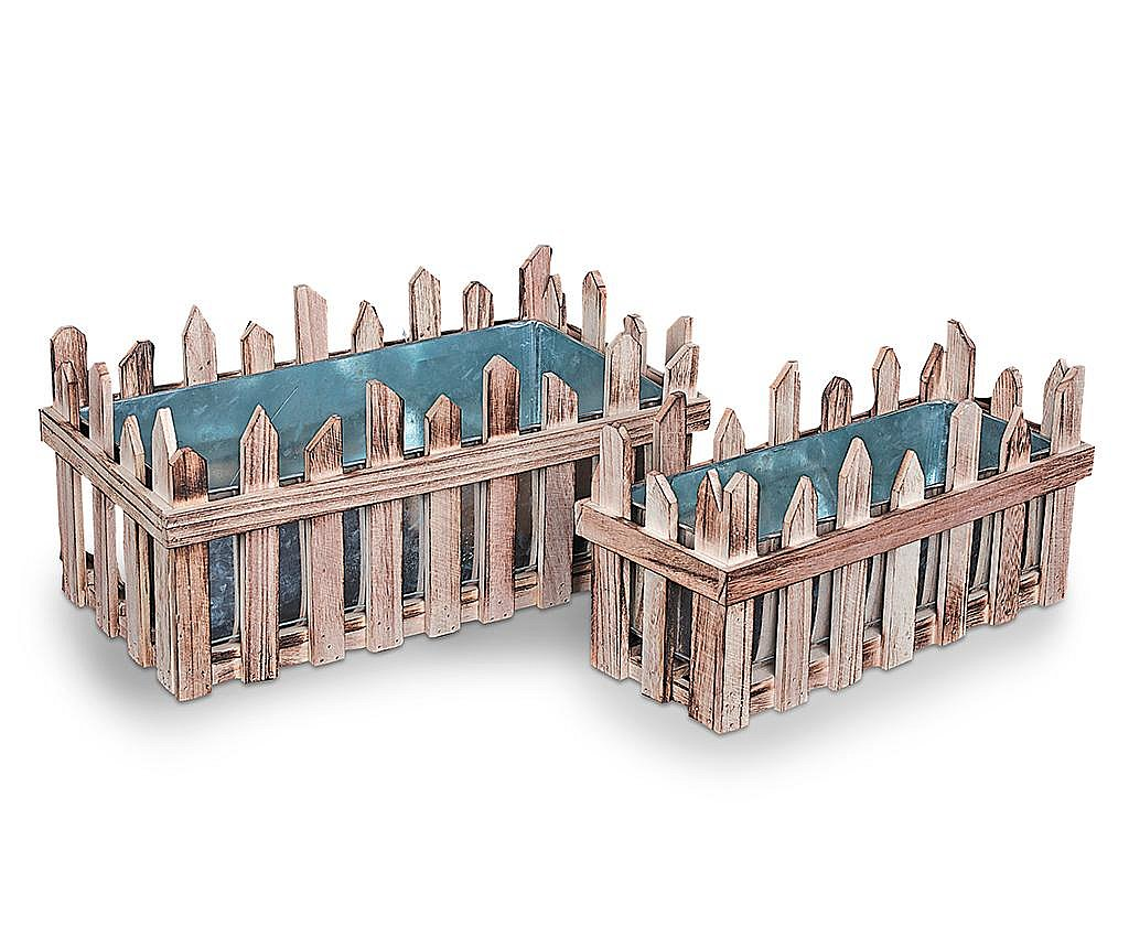 Set 2 ghivece Fence