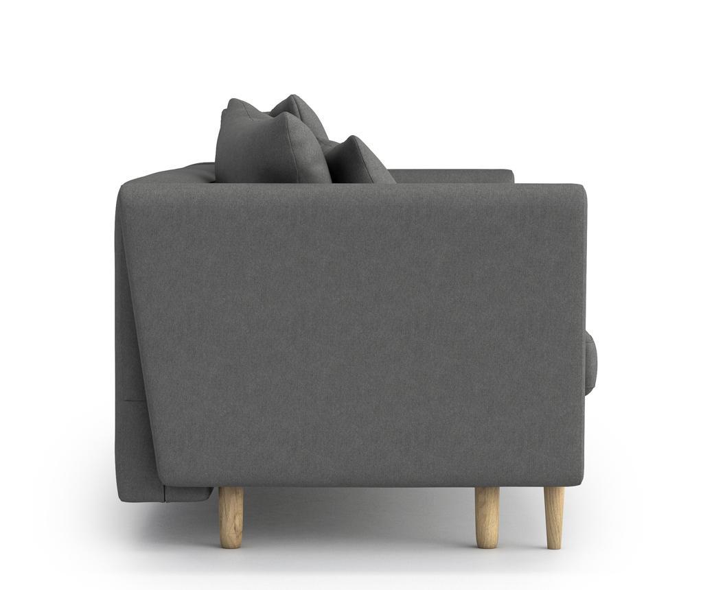 Canapea extensibila 3 locuri Joleen Lemur Grey