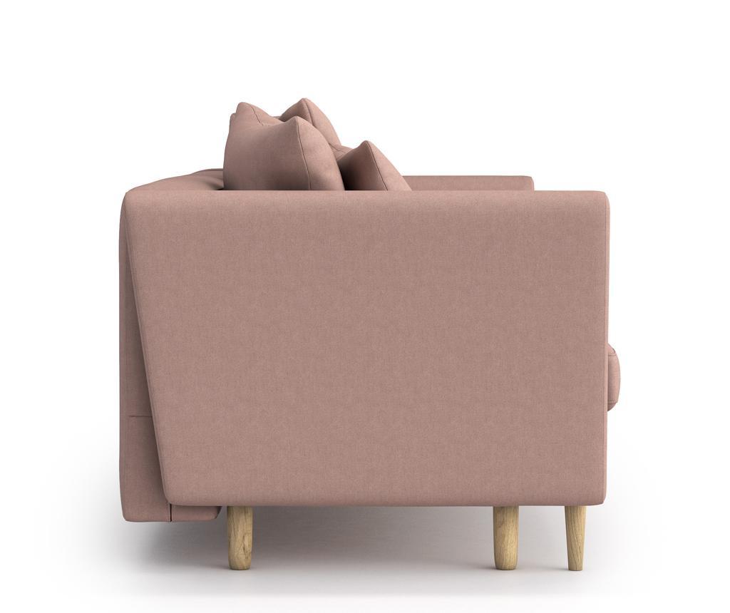 Joleen Powder pink Kihúzható háromszemélyes szófa