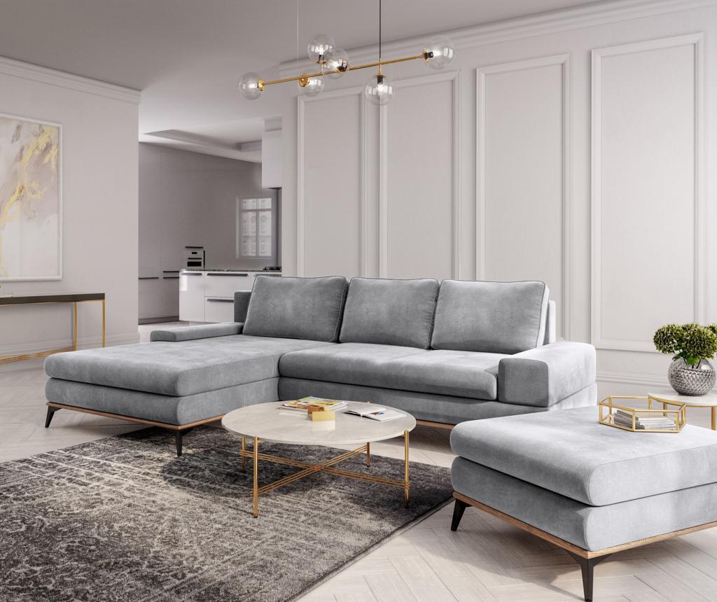 Разтегателен ляв ъглов диван Astre Light Grey