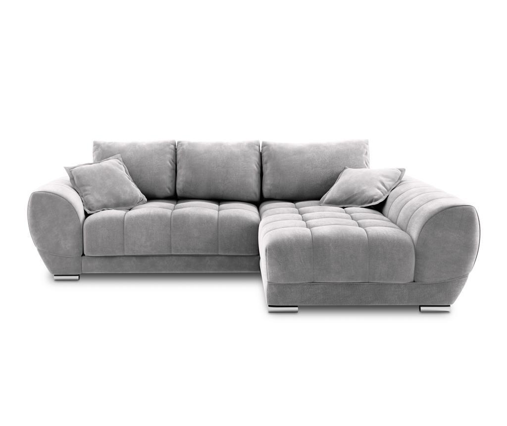 Разтегателен десен ъглов диван Nuage Light Grey