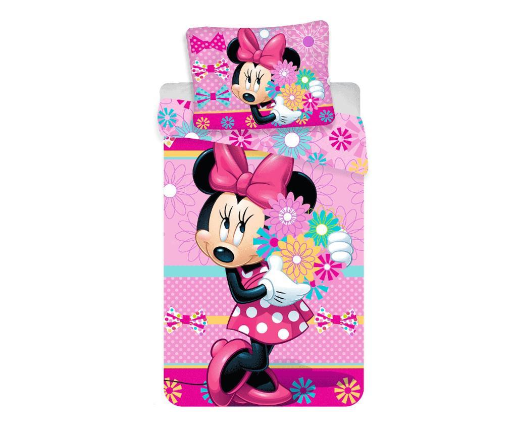 Set de pat Single Minnie bows and flowers