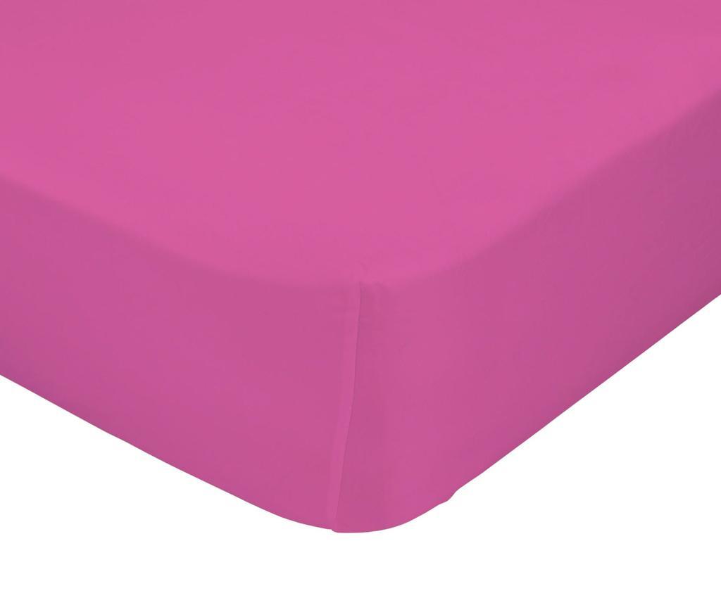 Cearsaf de pat cu elastic Basic Fuchsia 90x200 cm