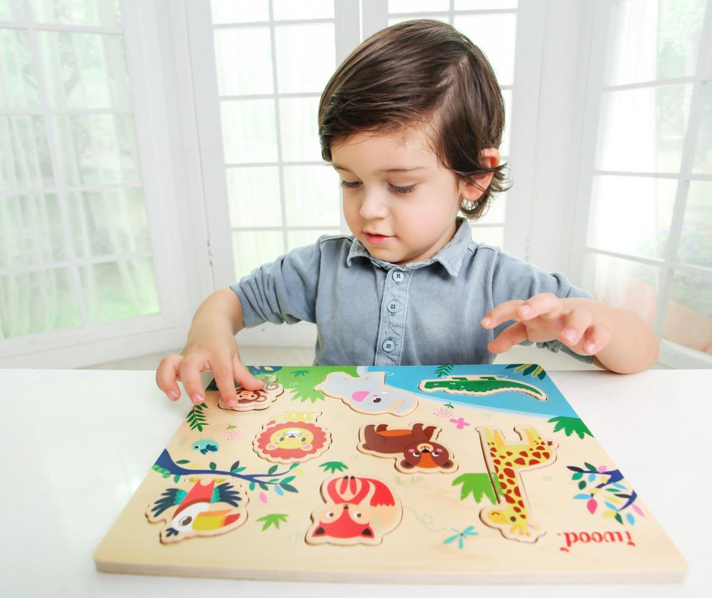 Igra tipa slagalice 8 dijelova Jungle Animals