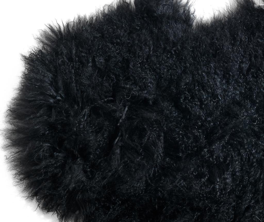 Dywan Fur Black 50x90 cm
