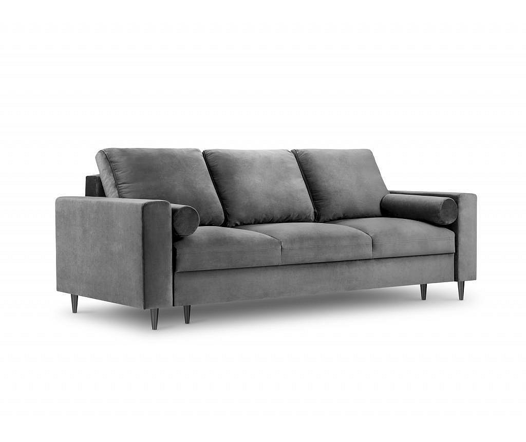 Camellia Light Grey Kihúzható háromszemélyes kanapé
