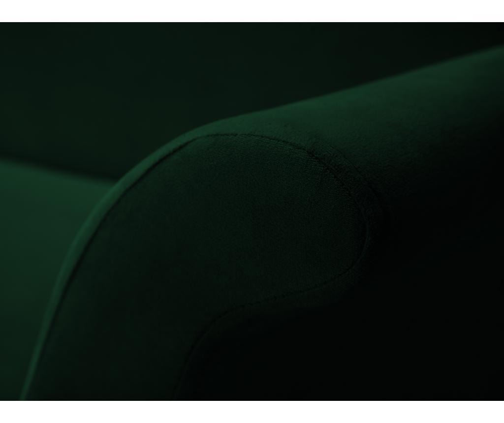 Разтегателно  триместно канапе Tulipe Bottle Green