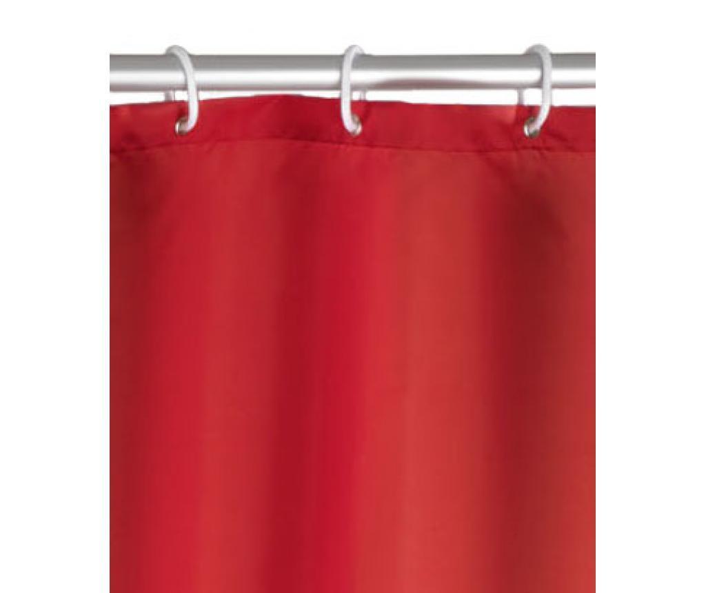 Zasłona prysznicowa Kim Red 180x200 cm
