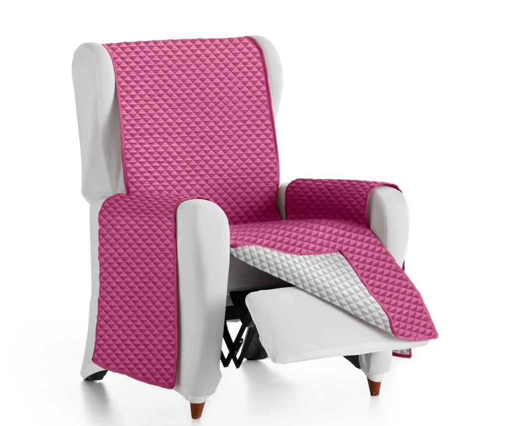 Prošivena navlaka za fotelju Oslo Reverse Fuchsia & Light Grey 55x80x220 cm