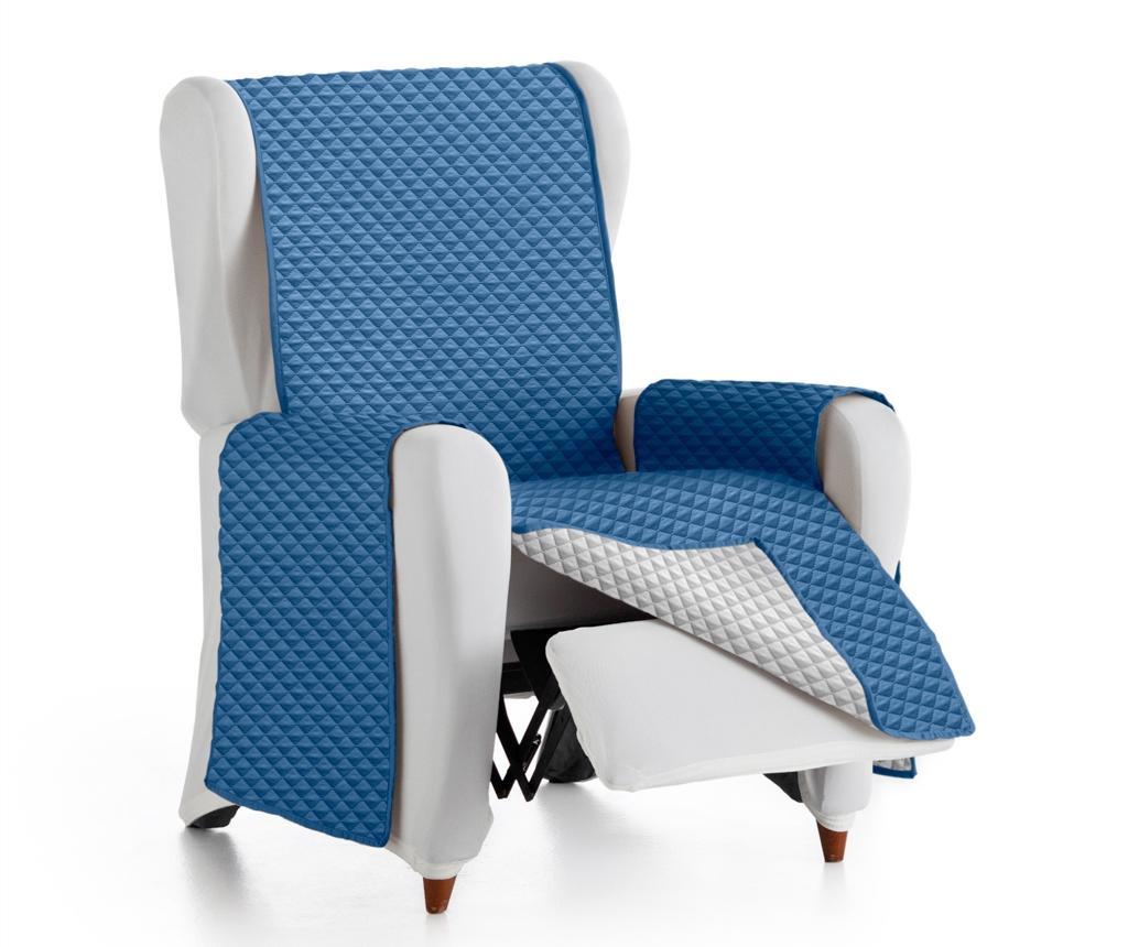 Prošivena navlaka za fotelju Oslo Reverse Blue & Light Grey 55x80x220 cm