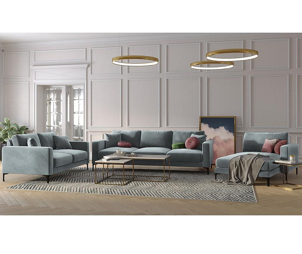 Canapea 2 locuri Harmony Light Grey