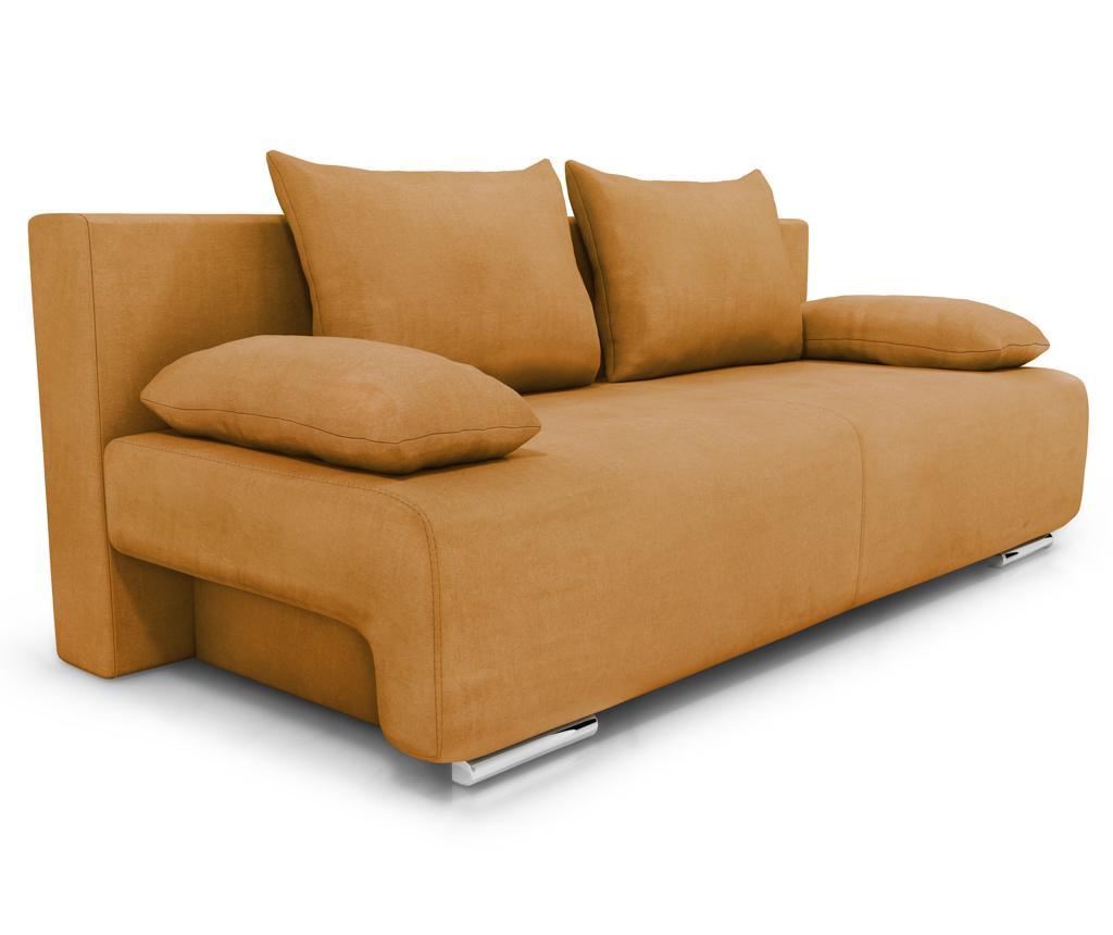 Rozkładana kanapa trzyosobowa Georgia Enjoy Mango