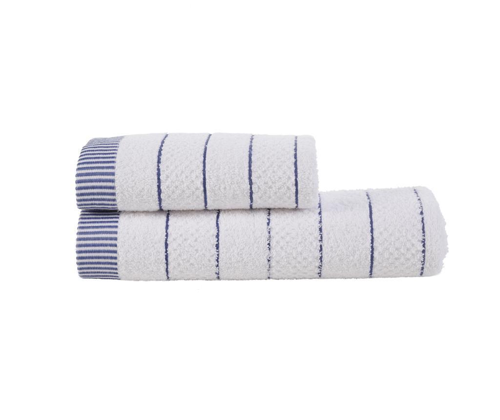 Zestaw 2 ręczników kąpielowych Irina Blue