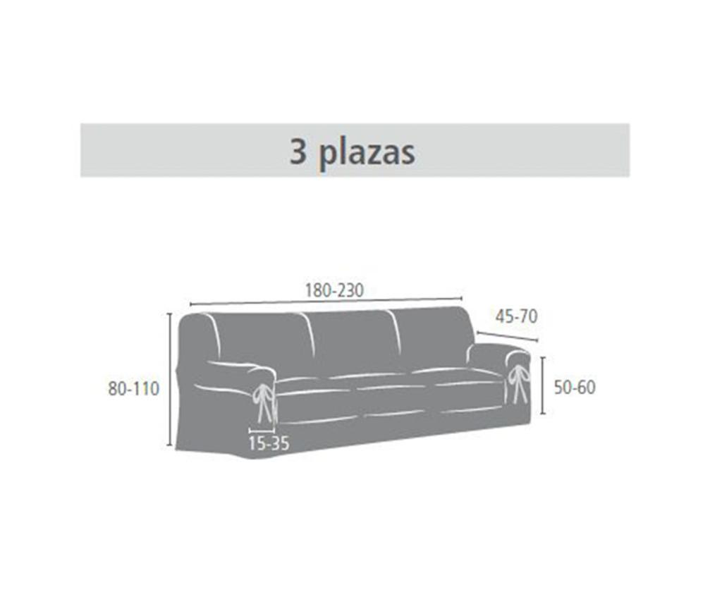 Pokrowiec na kanapę 3-osobową Calma Blue 180x45x50 cm