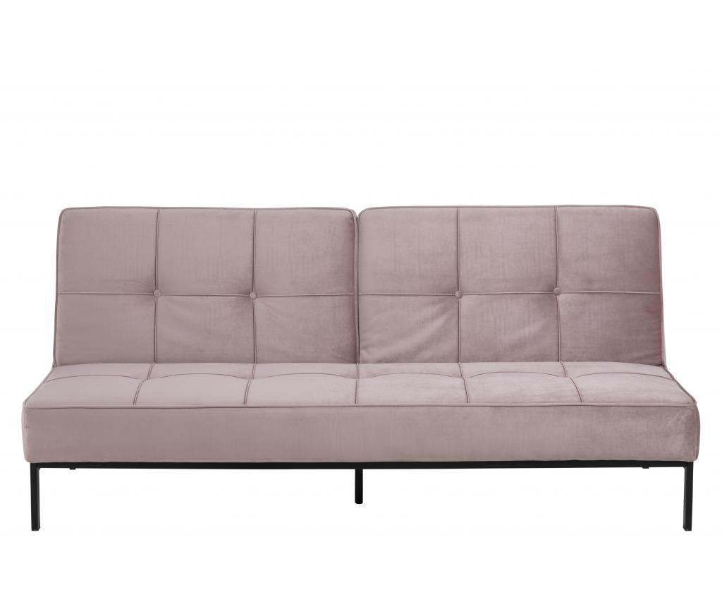 Canapea extensibila 3 locuri Perugia Pink