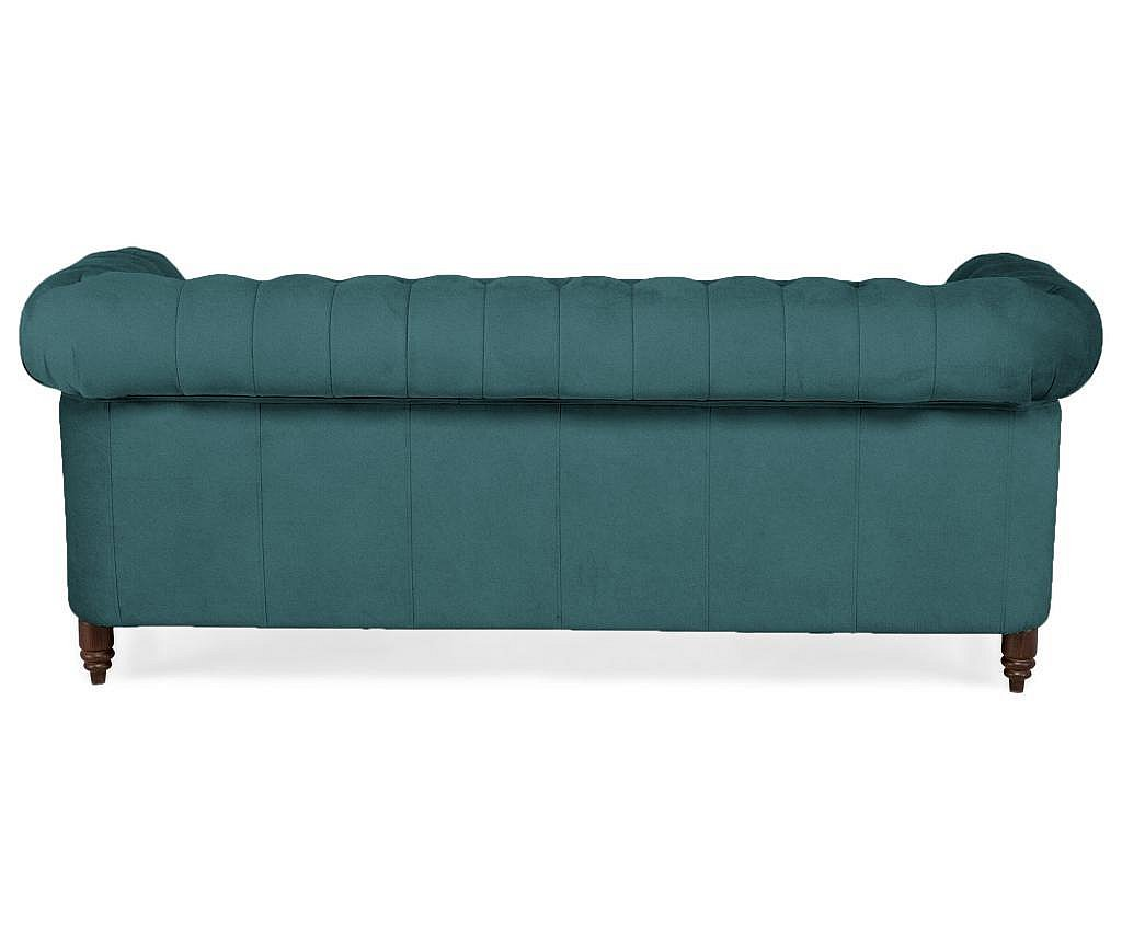 Canapea 3 locuri Chesterfield Bluegreen Turquoise Velvet