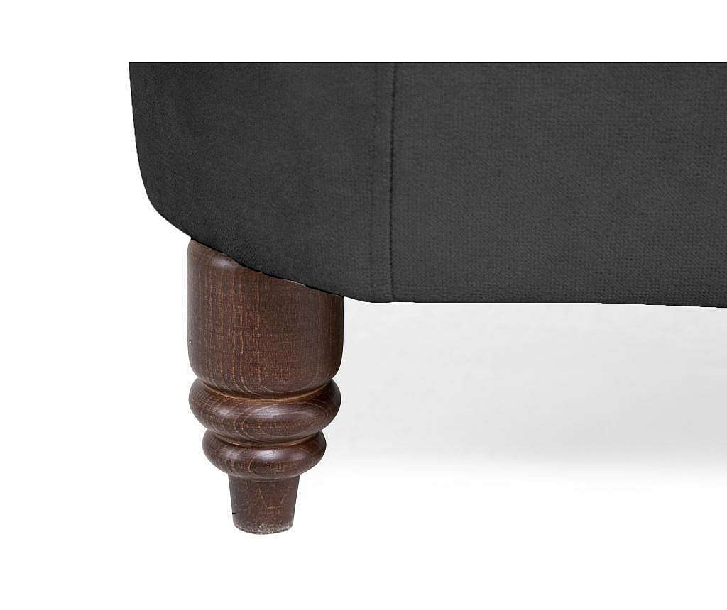 Kanapa 3-osobowa Chesterfield Grey Velvet