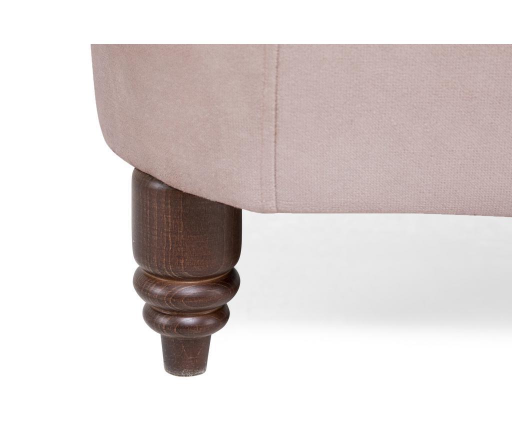Canapea 3 locuri Chesterfield Light Pink Jasmine Velvet