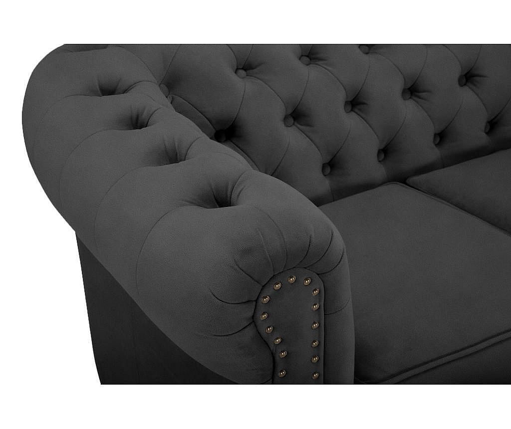 Sofa četvorosjed Chesterfield Grey Velvet