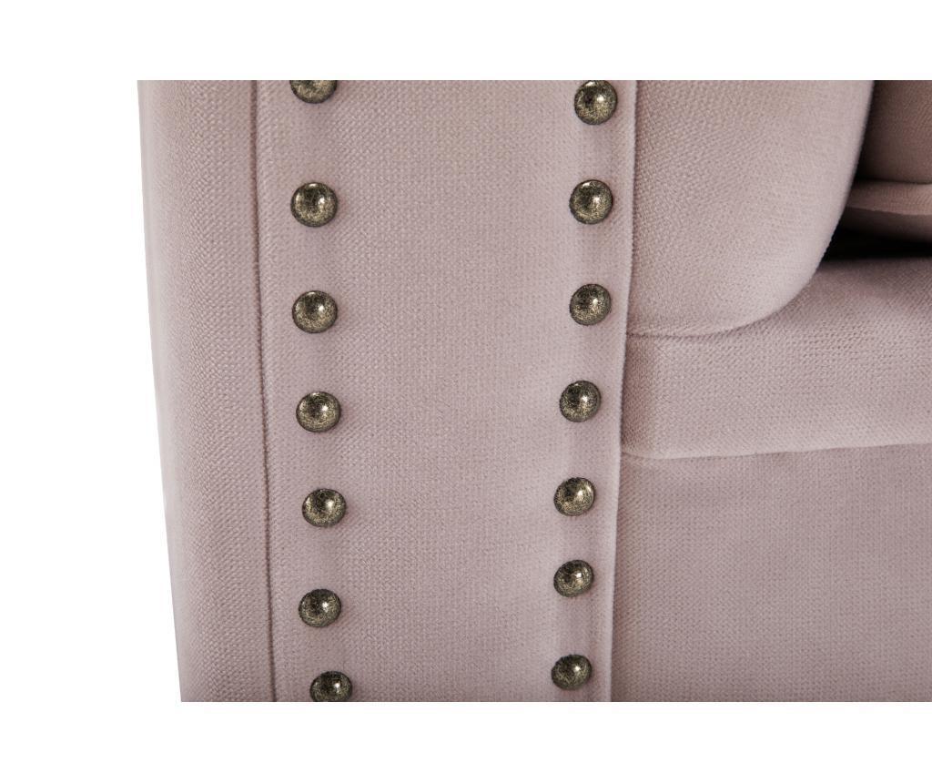 Kanapa 4-osobowa Chesterfield Light Pink Jasmine Velvet