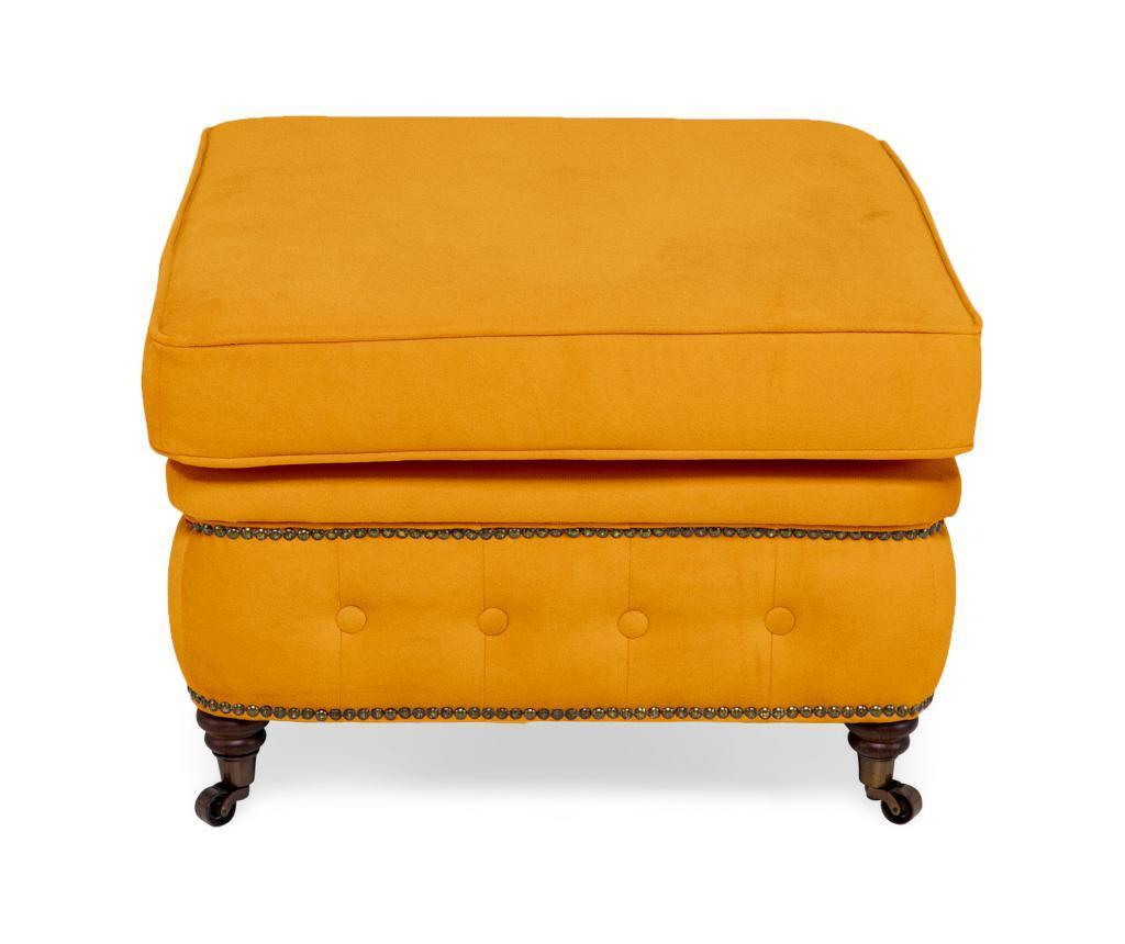 Stolička Chesterfield Yellow Velvet