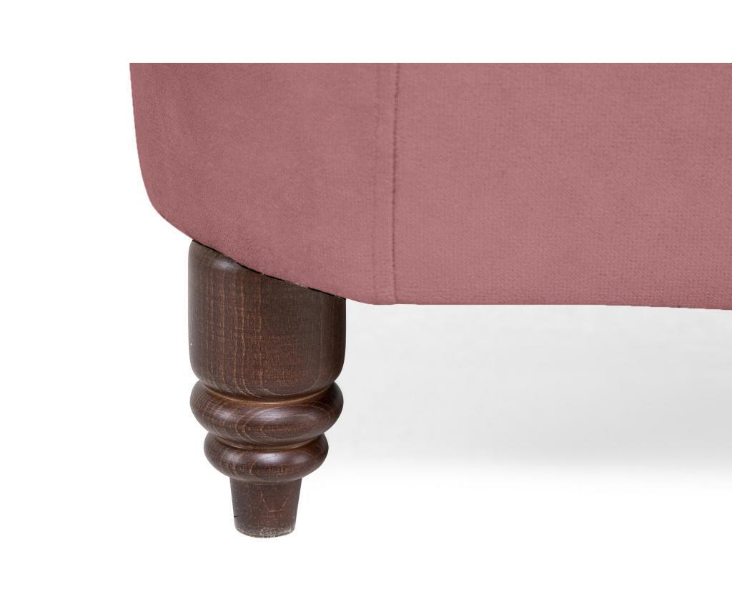 Kauč dvosjed Chesterfield Rust Pink Velvet