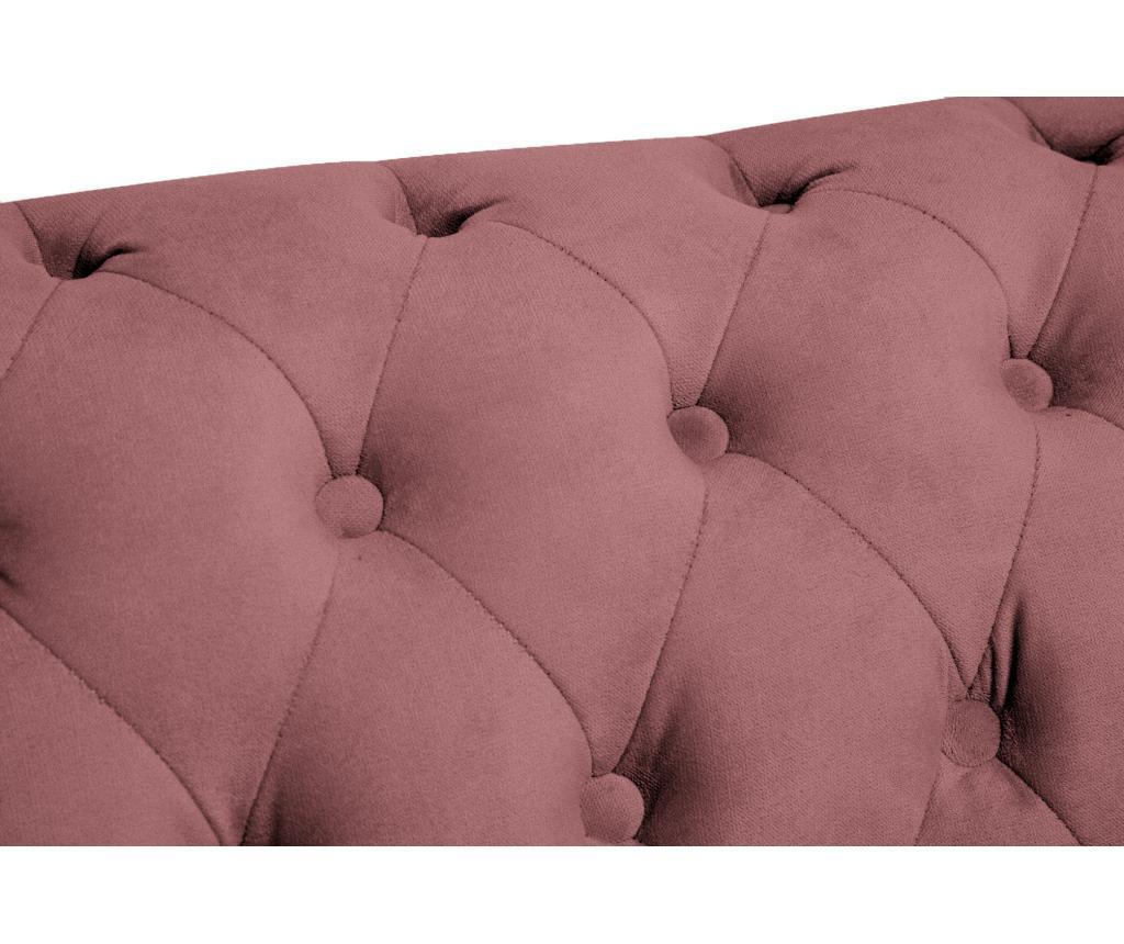 3 miestna pohovka Chesterfield Rust Pink Velvet