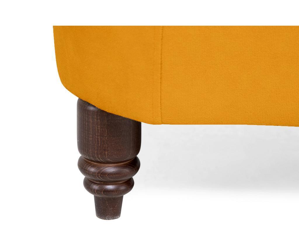 Canapea 3 locuri Chesterfield Yellow Velvet