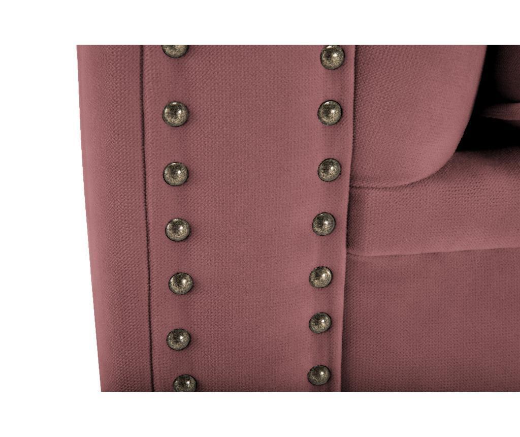 Kanapa 4-osobowa Chesterfield Rust Pink Velvet