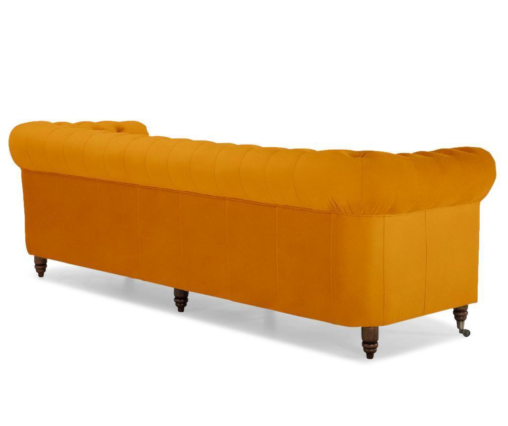Kanapa 4-osobowa Chesterfield Yellow Velvet