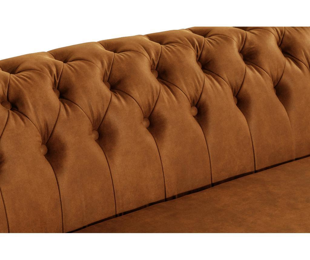 Canapea 3 locuri Chesterfield Curved Vintage Cognac