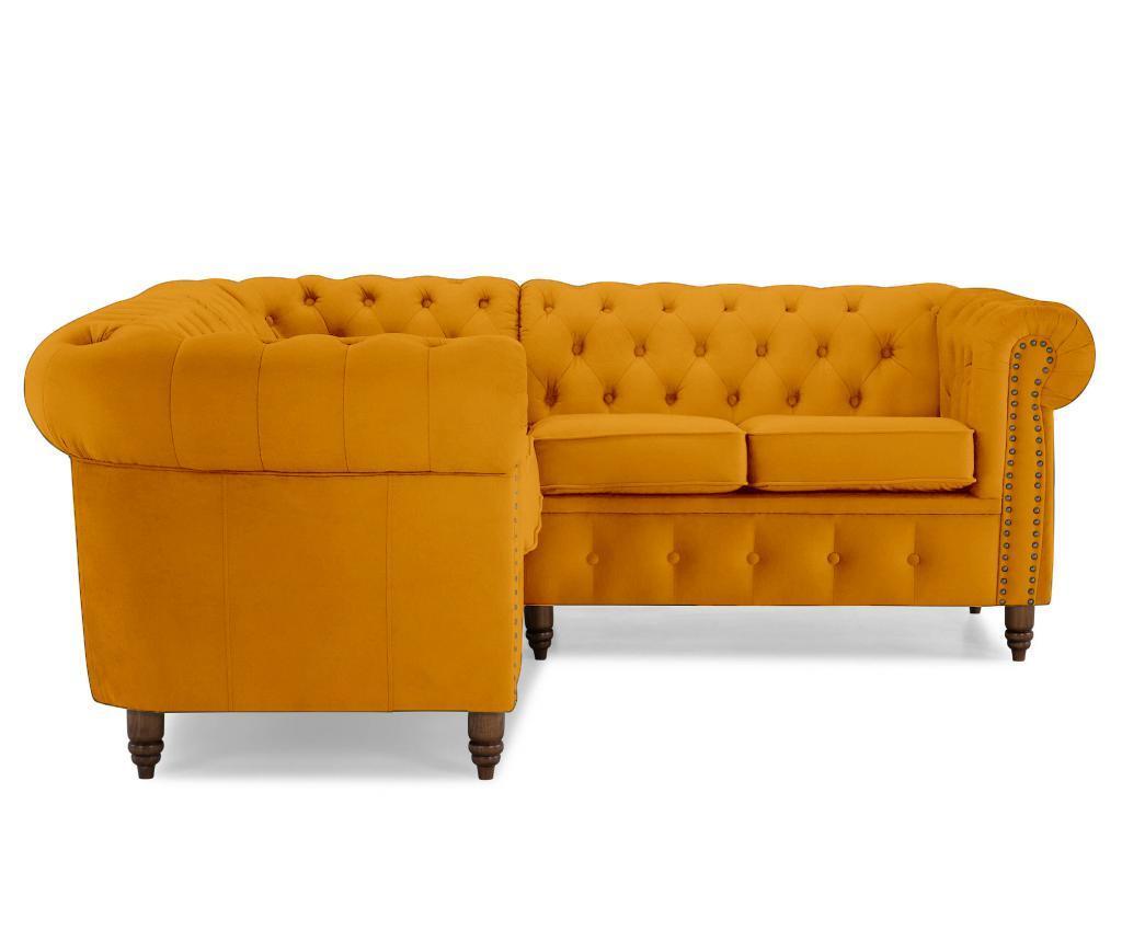 Coltar 4 locuri Chesterfield Yellow Velvet