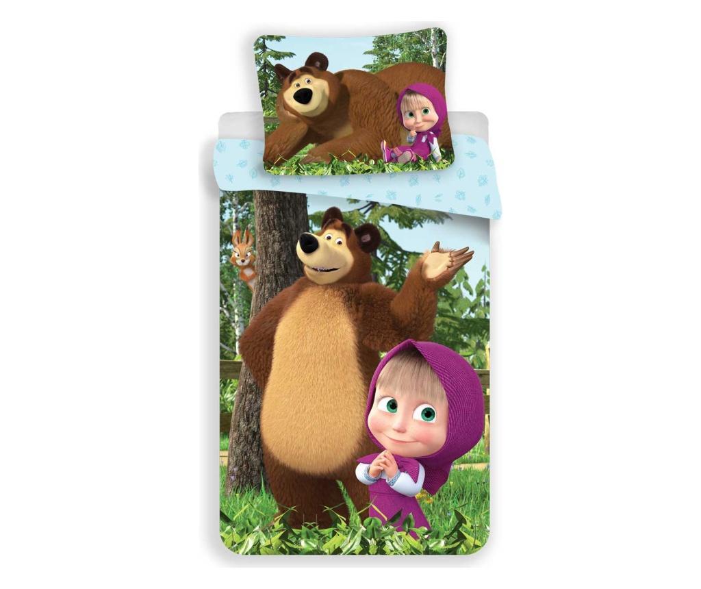 Set de pat Single Ranforce Masha and the Bear