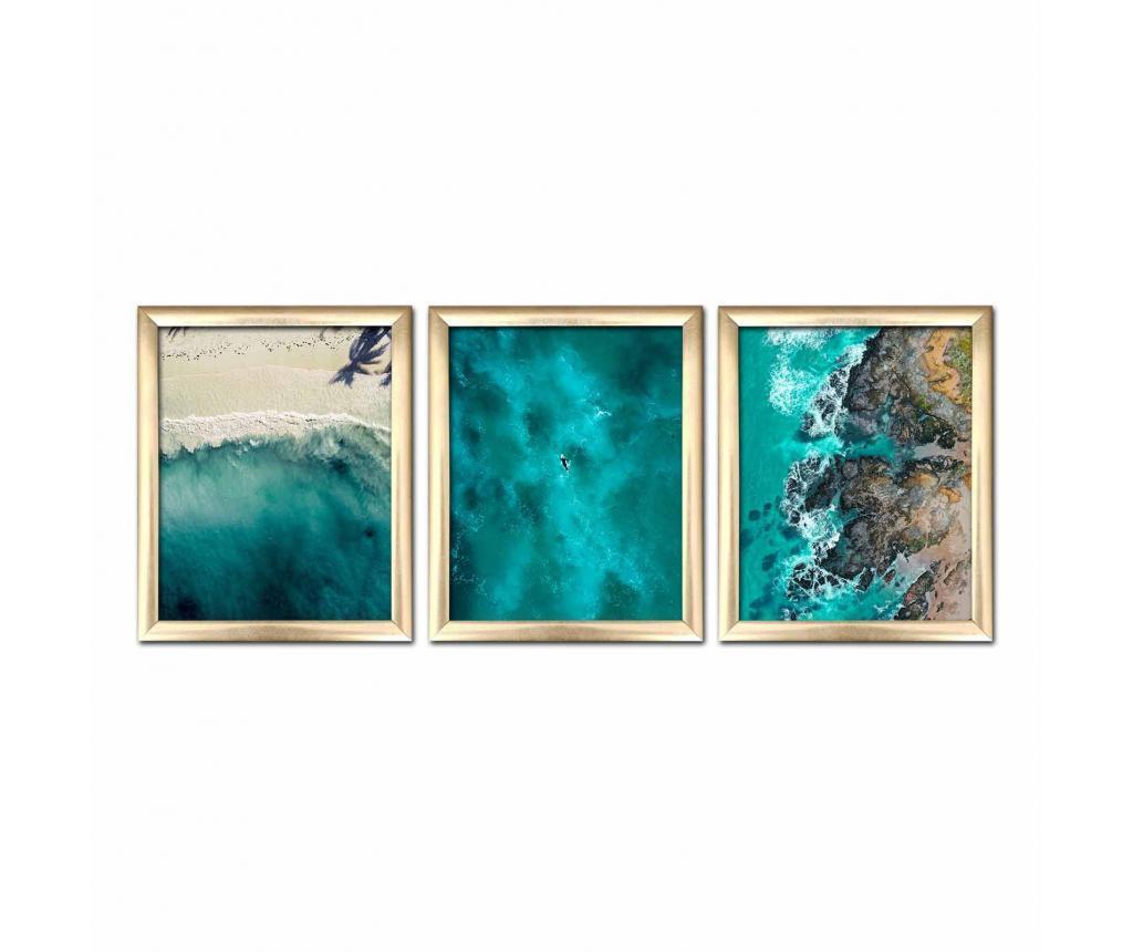Zestaw 3 obrazów 23.5x28.5 cm