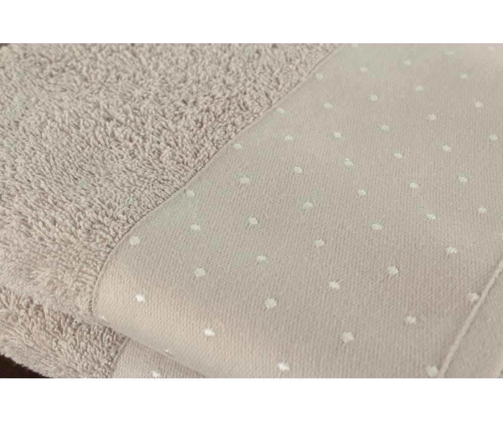 Set 2 prosoape de baie Polka Dots Light Grey 50x90 cm