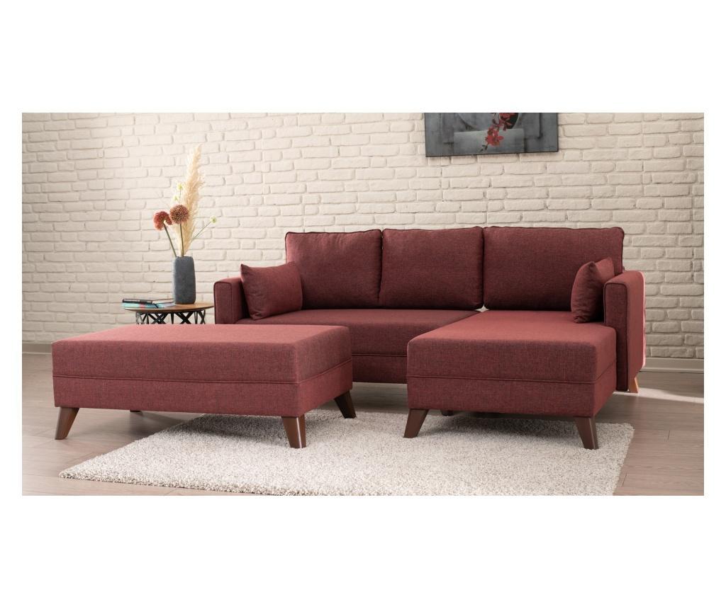 Десен ъглов диван с табуретка