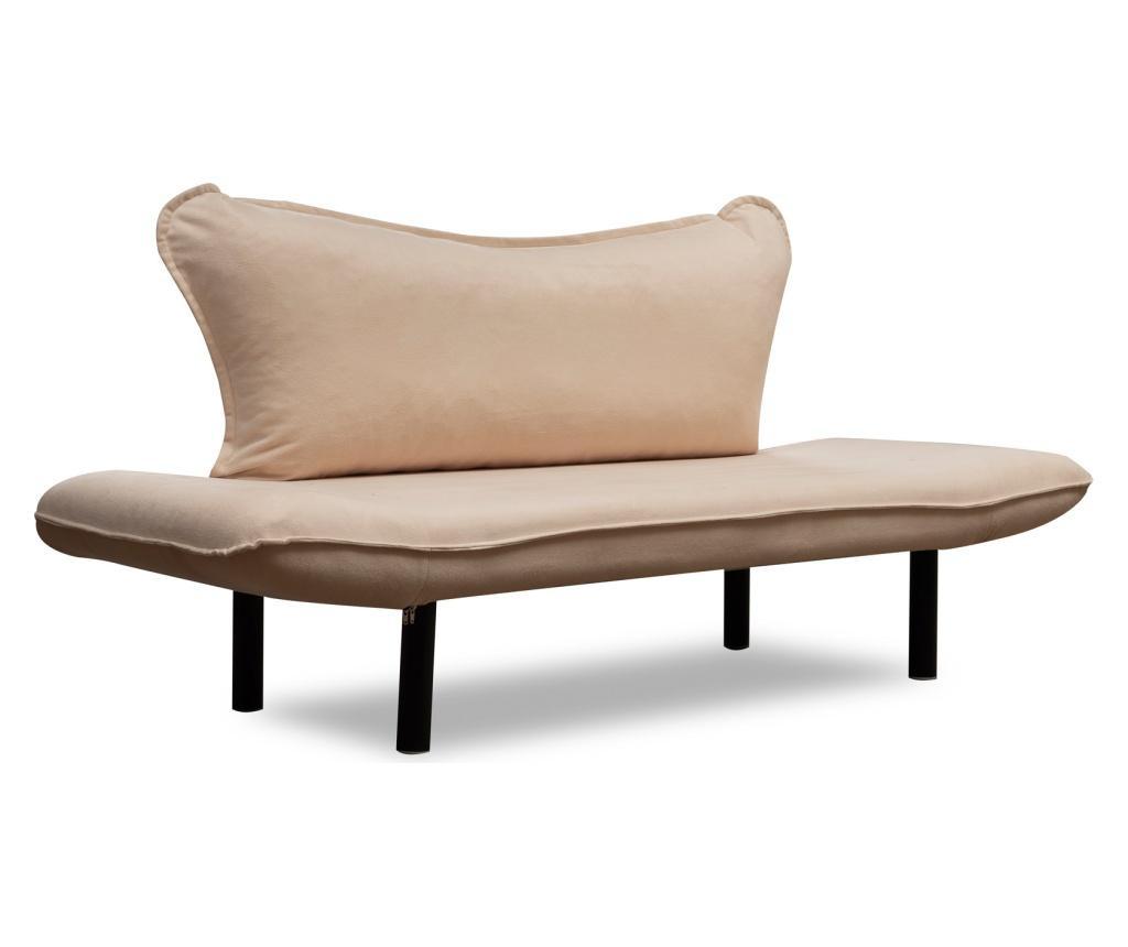 Carla Cream Kihúzható kétszemélyes kanapé