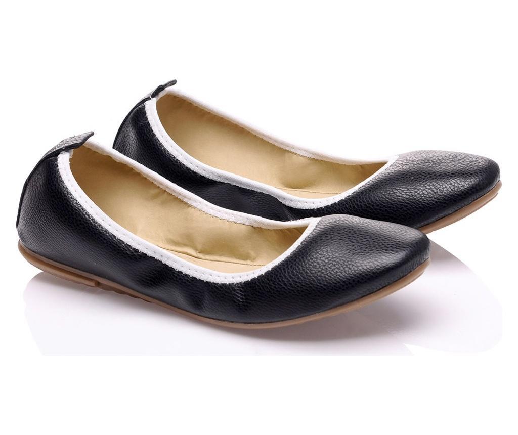 Pantofi pliabili cu geanta Foldy Black 38
