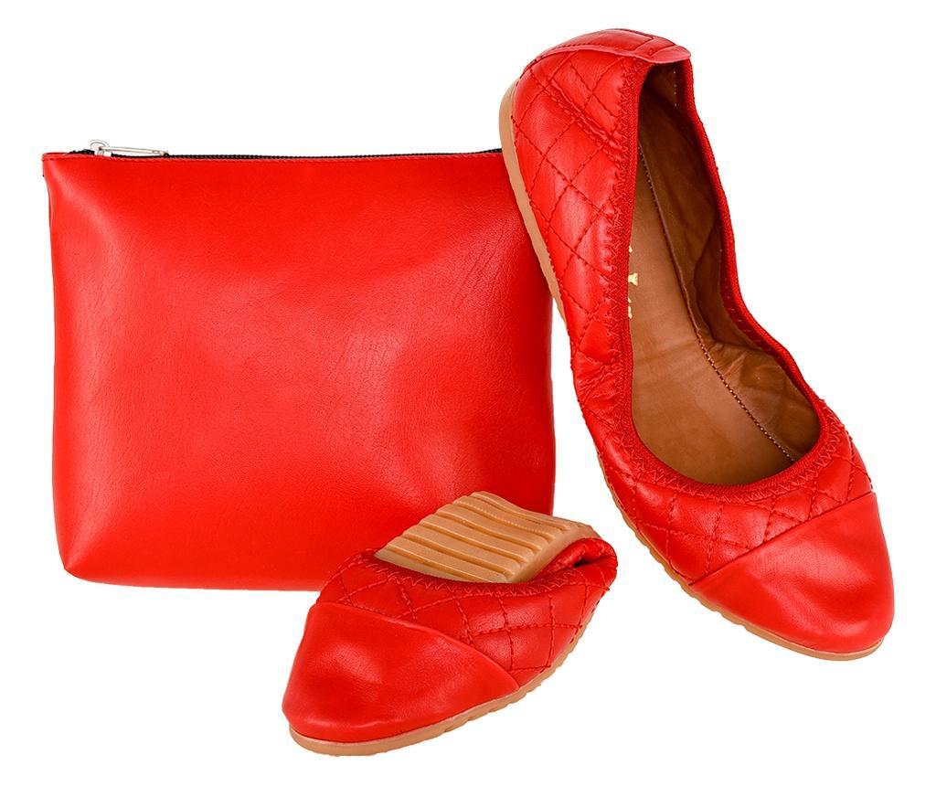 Balerini pliabili cu geanta pentru transport Foldy Red 38