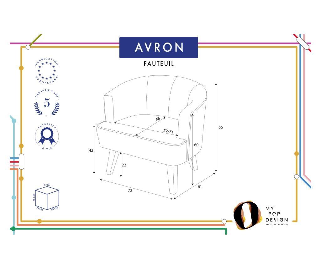 Fotoliu Avron Uni Grey & Silver